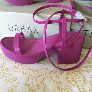 Urban Outfitters Magenta Shoes